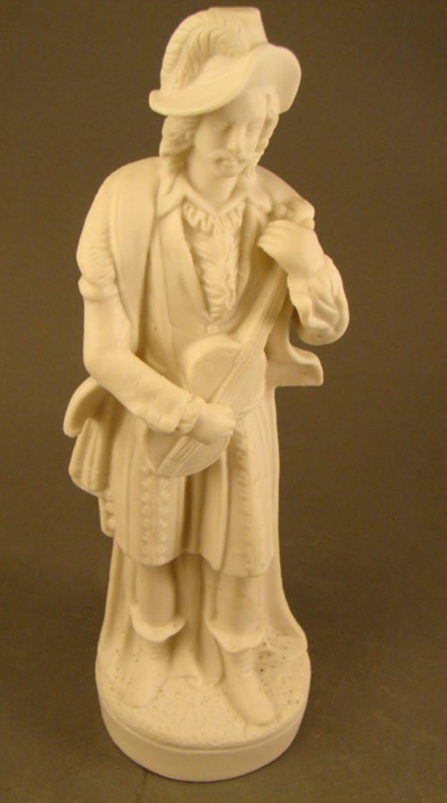 1018: Antique Parian Figure of a Man wearing 17th Centu