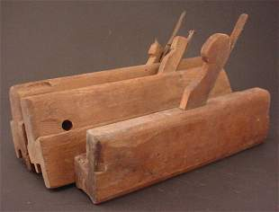 Group of 3 Antique Wood Molding Planes.
