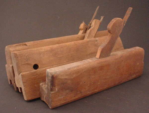 1010: Group of 3 Antique Wood Molding Planes.