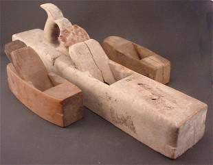 Three Antique Wood Planes. Including Fore plane a