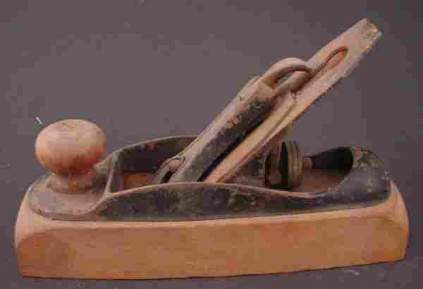 Antique Wood & Metal Woodworker's Smoothing Plane