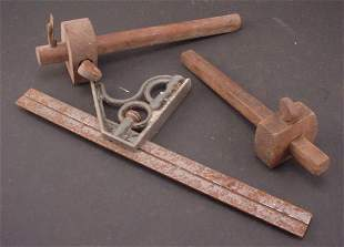 Three Pieces including 2 depth gauges and 1 level