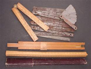 Group of Folding and Slide Rules, Approx. 5