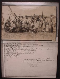 1663: Photograph of Group of Native Americans in tradit