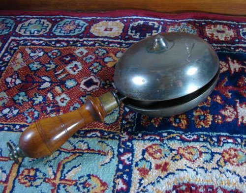 17: Antique Trolley / Train Master's Bell. double bell