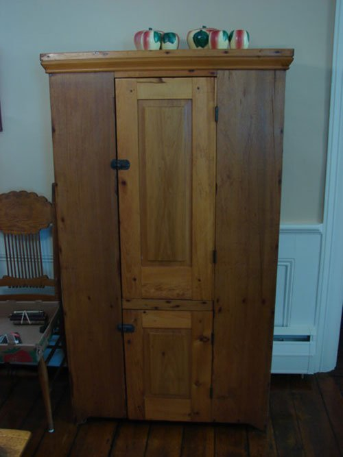 20: Antique Pine Jelly Cupboard with two raised panel d