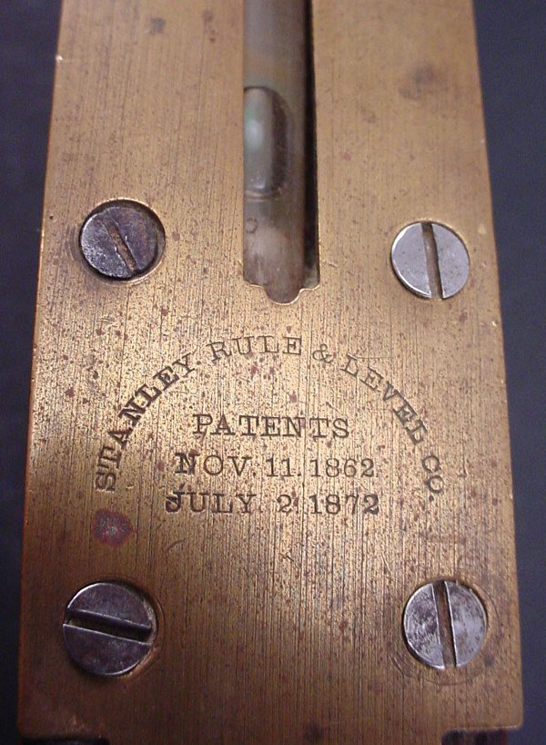 """2186: Levels. Both """"Stanley Rule & Level Company patent - 3"""