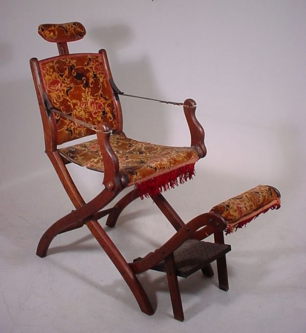 2933: Extremely rare folding traveling dentist chair -