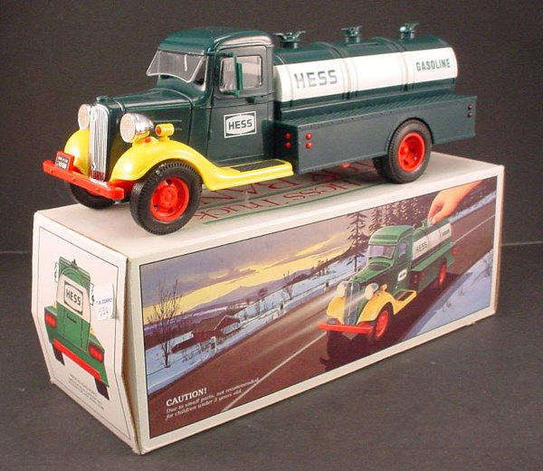"216: Hess Truck. ""First Hess Truck Toy Bank"". 4 1/2""h x"