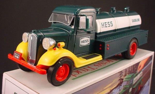 "216: Hess Truck. ""First Hess Truck Toy Bank"". 4 1/2""h x - 2"