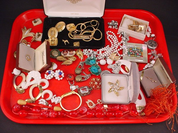 "291: Large lot of Costume Jewelry including 3 ""Krementz"