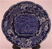 """4003: Historical Staffordshire """"Clews"""" Plate. 1""""h x 8 3"""