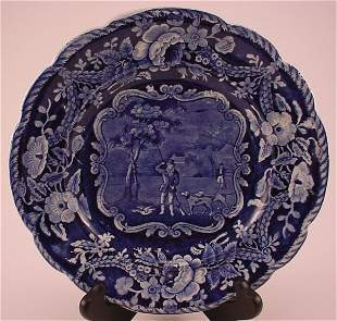 """Historical Staffordshire """"Clews"""" Plate. 1""""h x 8 3"""