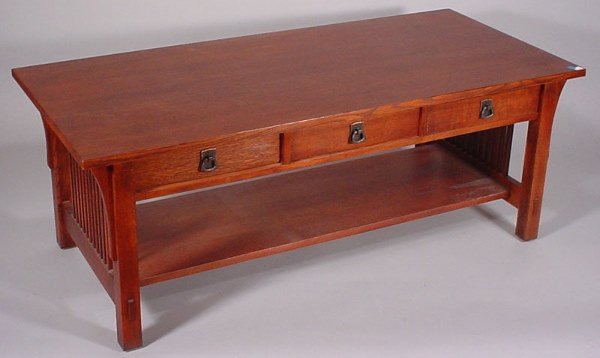 """4006: """"Stickley"""" Signed Coffee Table"""