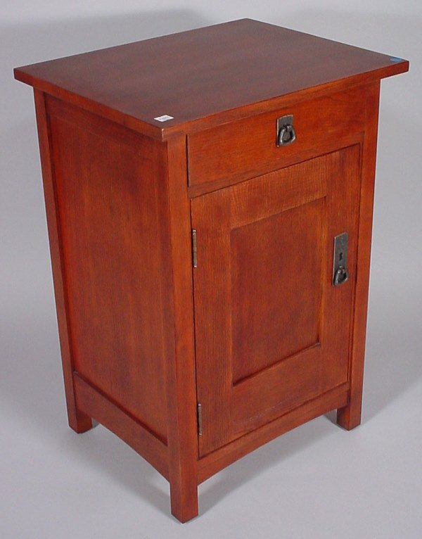 """4007: """"Stickley"""" Signed One Drawer Stand"""