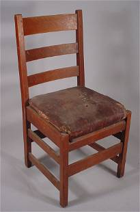 """L & J.G."" Stickley Mission Oak side chair"