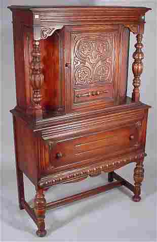 Jacobean Style carved oak 10 pc. Dining Room Suit