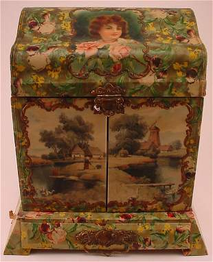 Late Victorian celluloid covered medical vanity c