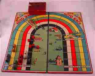 """Early board game. """"Auto race Game"""" w/ 6 cast meta"""