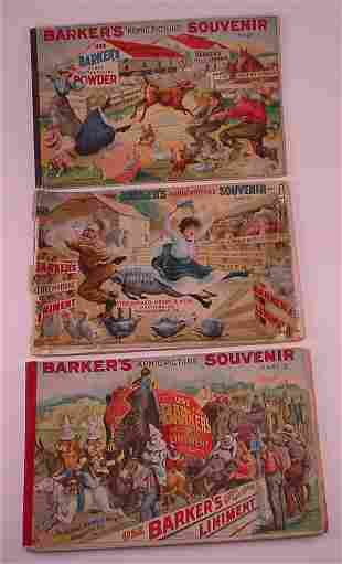"""3 pc. Barker's """"Komic Picture Souvenir"""" Parts 1,2"""