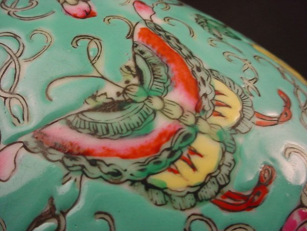 """4091: """"Japanese Porcelain Ware"""". Colorfully Decorated P - 4"""