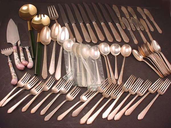"""4011: """"Lunt"""" Sterling Silver Flatware Service for 8. Wi"""