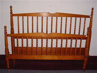 """""""Stickley"""" Signed Maple & Tiger Maple Full size"""