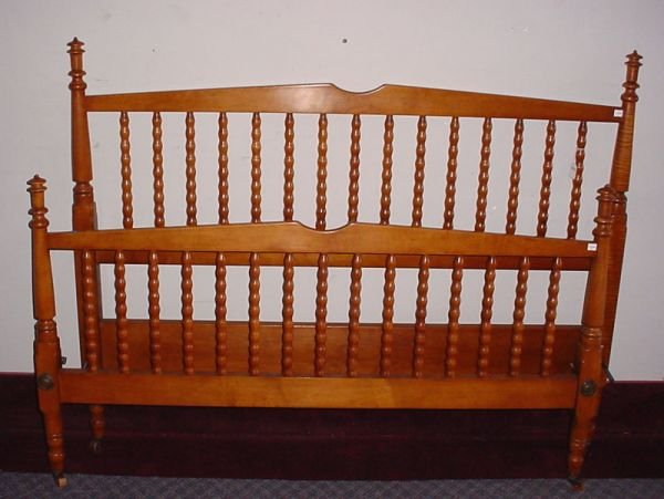 """4005A: """"Stickley"""" Signed Maple & Tiger Maple Full size"""