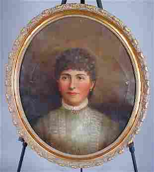 19th c. Oil Painting on canvas, Portrait of a you