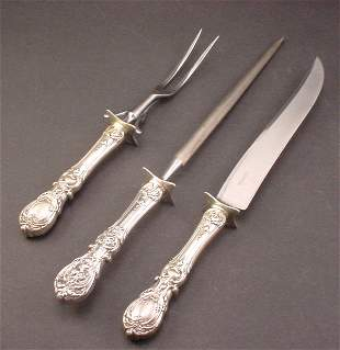"""3pc """"Reed & Barton"""" Sterling """"Francis I"""" pattern"""