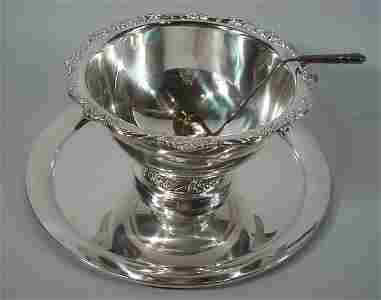 """4156: """"Rogers Bros. Heritage"""" Silver Plate Punch Bowl w"""