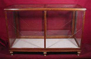 Oak Beveled Glass Display Case