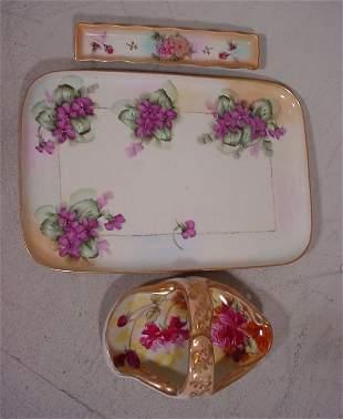 3pcs Hand Painted Porcelain