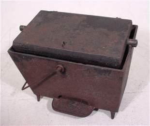 Cast Iron Antique Portable Waffle Maker