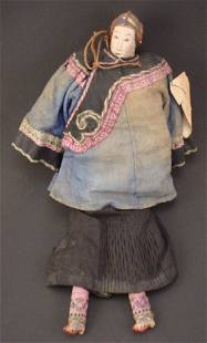 Folky Hand Painted Asian Doll