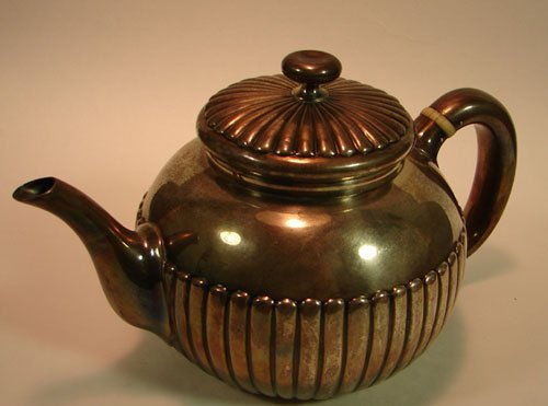 2: Whiting Sterling Tea Pot with Ivory Insulators. Insc
