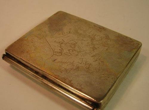 """8: Sterling Silver Box with super imposed """"CT"""" makers m"""