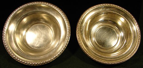 """008A: Two Sterling Silver Bowls. Includes """"Lunt"""" and """"A"""