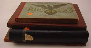 2 US Books with singles and 2 stamp albums.