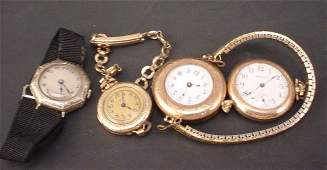 748 Lot of 4 misc ladies gold filled watches Three wr