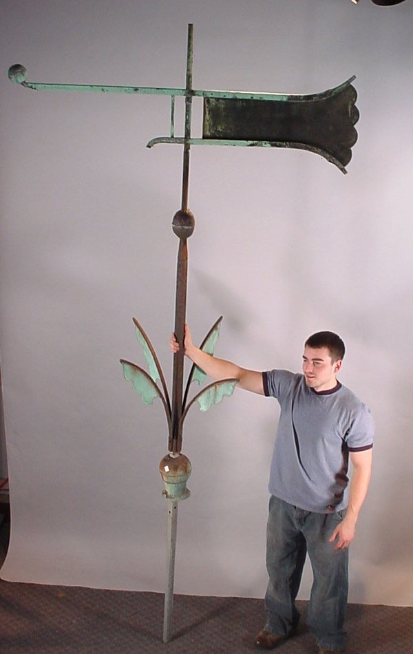 1004: Large Antique Copper and Wrought Iron Architectur