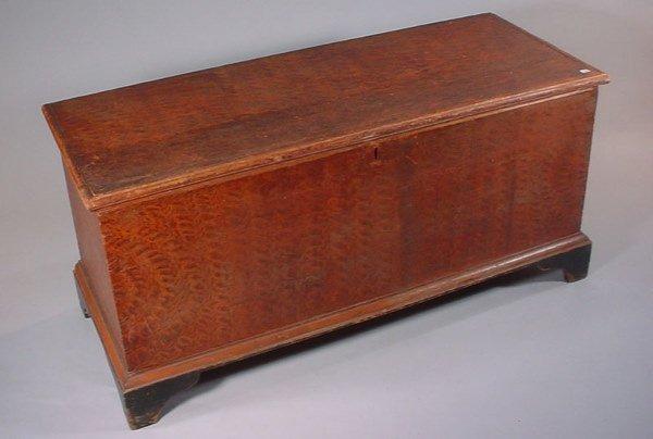 1008: American Folk Art Painted Blanket Box on bracket