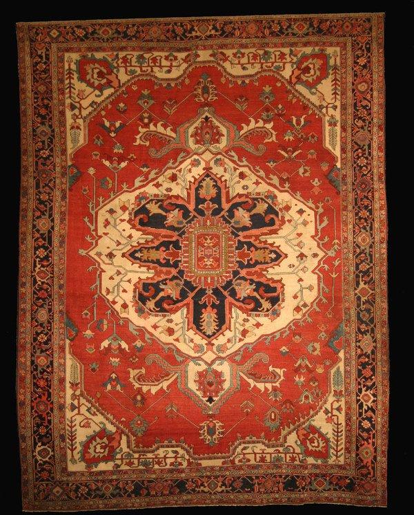 1172: Rare and Important Antique Serapi Oriental Carpet