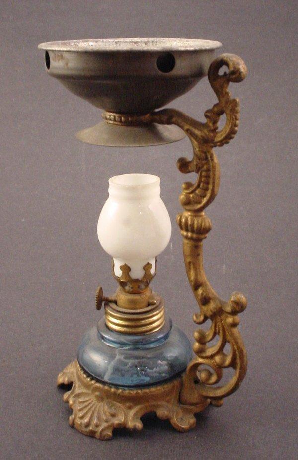 1414: Vapo-Cresolene type medicinal antique vapor lamp