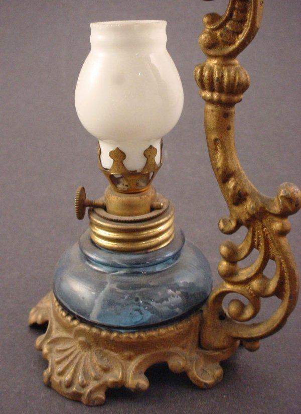 1414: Vapo-Cresolene type medicinal antique vapor lamp - 2