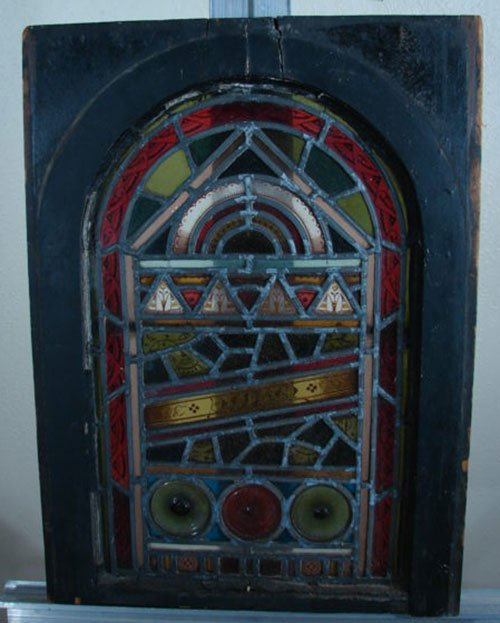 003: Antique American Aesthetic Period Stained Window