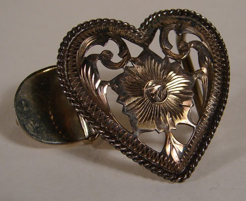 004: Vogt Sterling Silver Heart Shaped Buckle