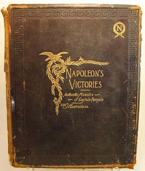 012: Napoleon's Victories Book along with an Albumen
