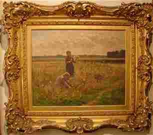 100: Armand De Beul Original signed Oil Painting