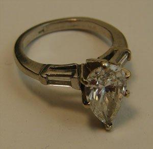 1001: Diamond and Platinum Ladies Ring. Approximately 2